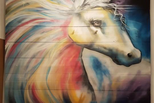 kinderkamer schildering paard