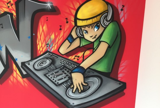 dj-graffiti-kinderkamer