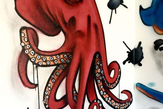 graffiti octopus