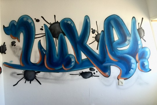 Graffiti kamer luke