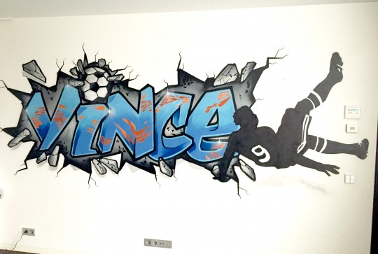 graffiti kinderkamer vince