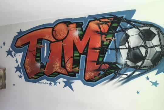 Graffiti Tim voetbal