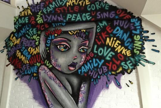 Graffiti kinderkamer Afro