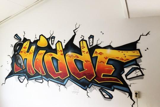 Graffiti kinderkamer Hidde 2