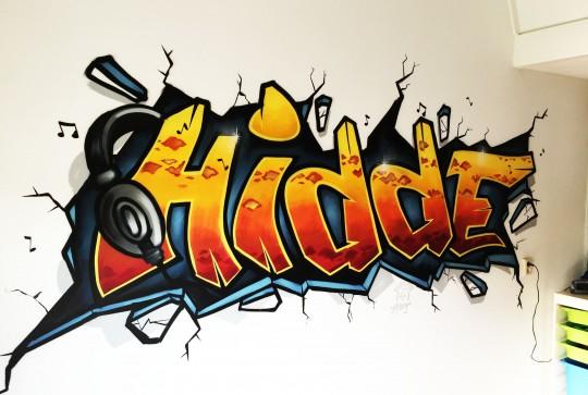 Graffiti kinderkamer Hidde