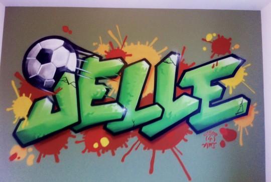 Graffiti kinderkamer  Jelle