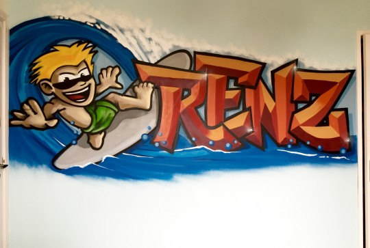 Graffiti kinderkamer Renz