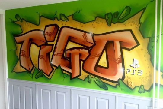Graffiti kinderkamer T