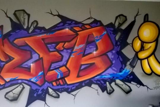 Graffiti kinderkamer  Zeb