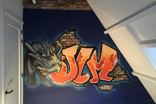 Graffiti kinderkamer jim1