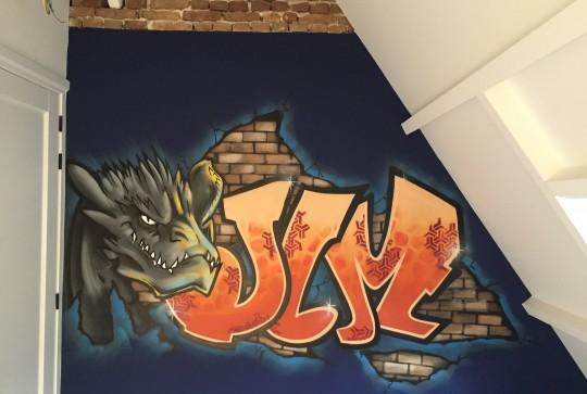 Graffiti kinderkamer jim2