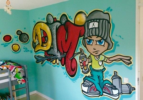 Graffiti slaapkamer -