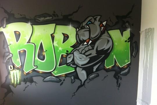 Graffiti slaapkamer Robin