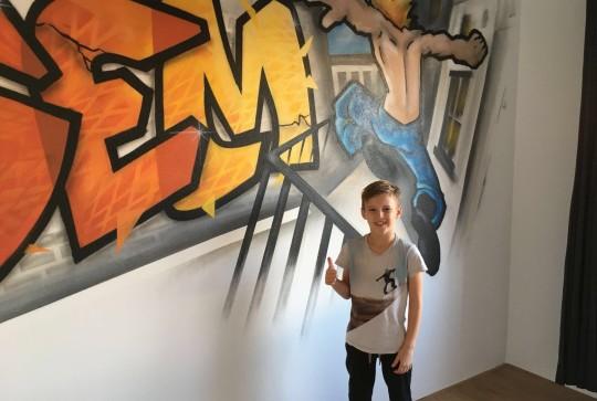 graffiti kinderkamer freerunning