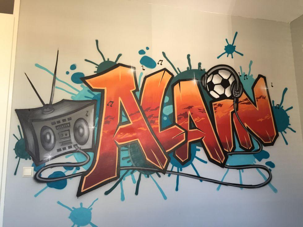 graffiti kinderkamer specialist via kinderkamer-graffiti.nl, Deco ideeën