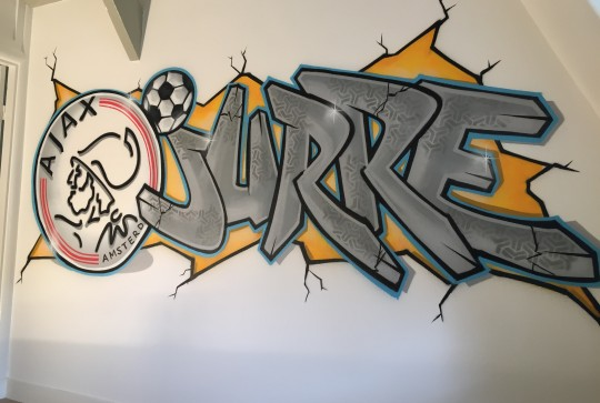 Ajax graffiti Jurre