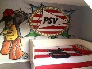 Kinderkamer graffiti PSV