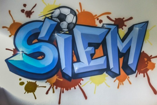 Siem graffiti kinderkamer