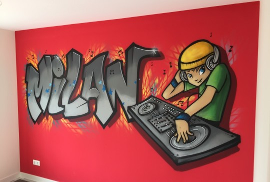 graffiti-dj-kinderkamer