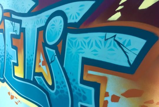 graffiti muurschildering kinderkamer sofie2