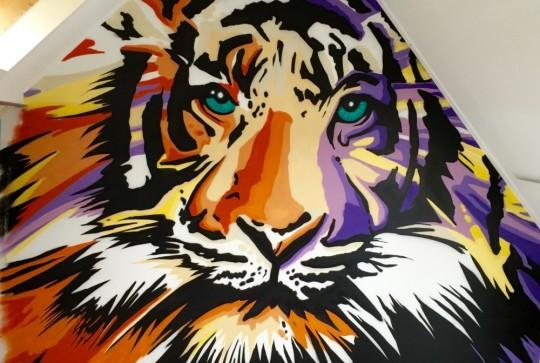 graffiti tiger abstract