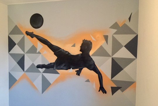 graffiti-voetbal-kamer