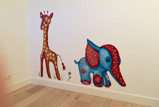 muurschildering babykamers