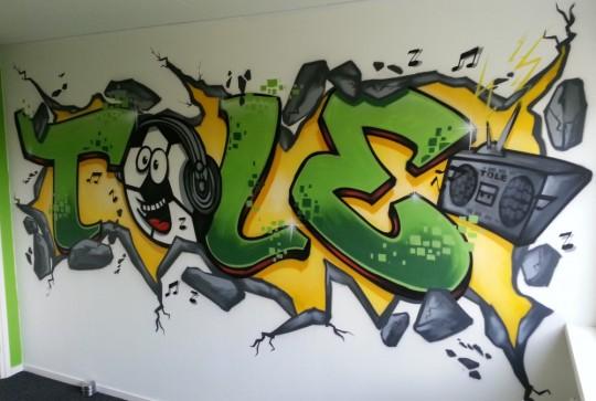 graffiti slaapkamer Tole