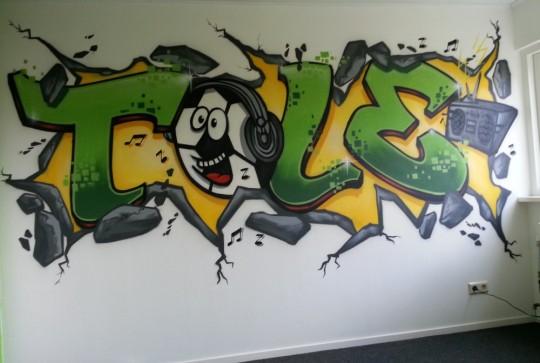slaapkamer graffiti tole
