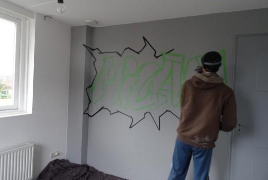 Graffiti kinderkamer Milan 2
