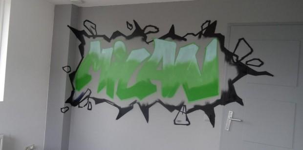 Graffiti kinderkamer Milan 3