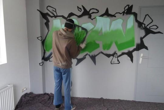 Graffiti kinderkamer Milan 4