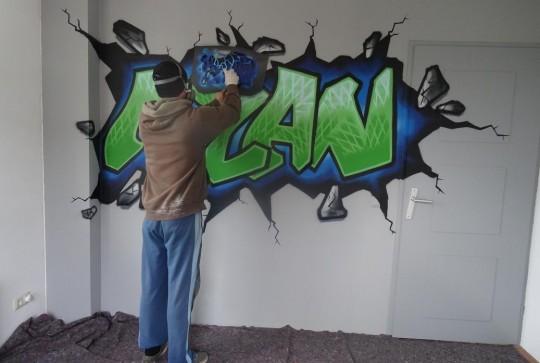 Graffiti kinderkamer Milan 5