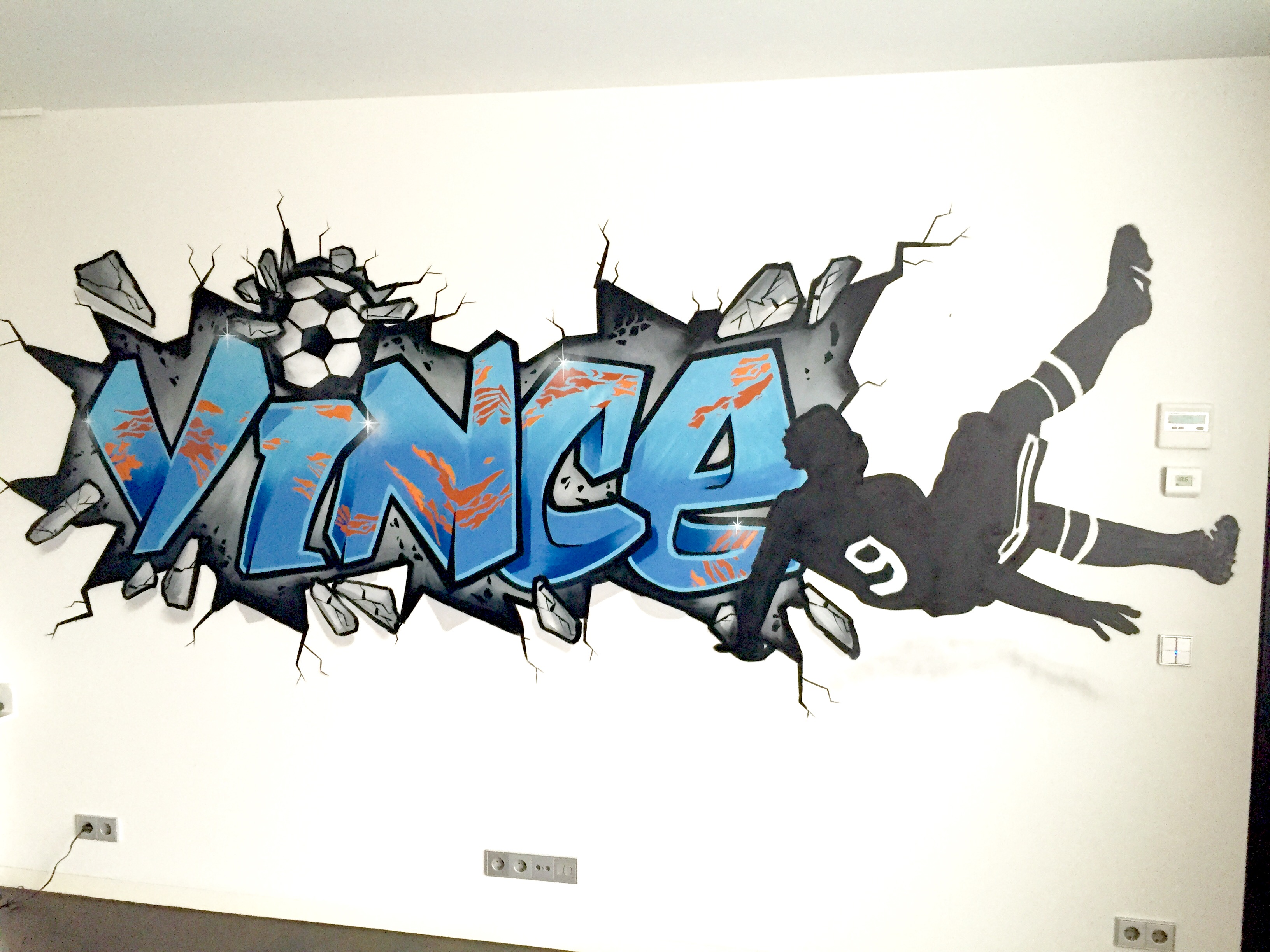 Graffiti behang foto - Sport Behang
