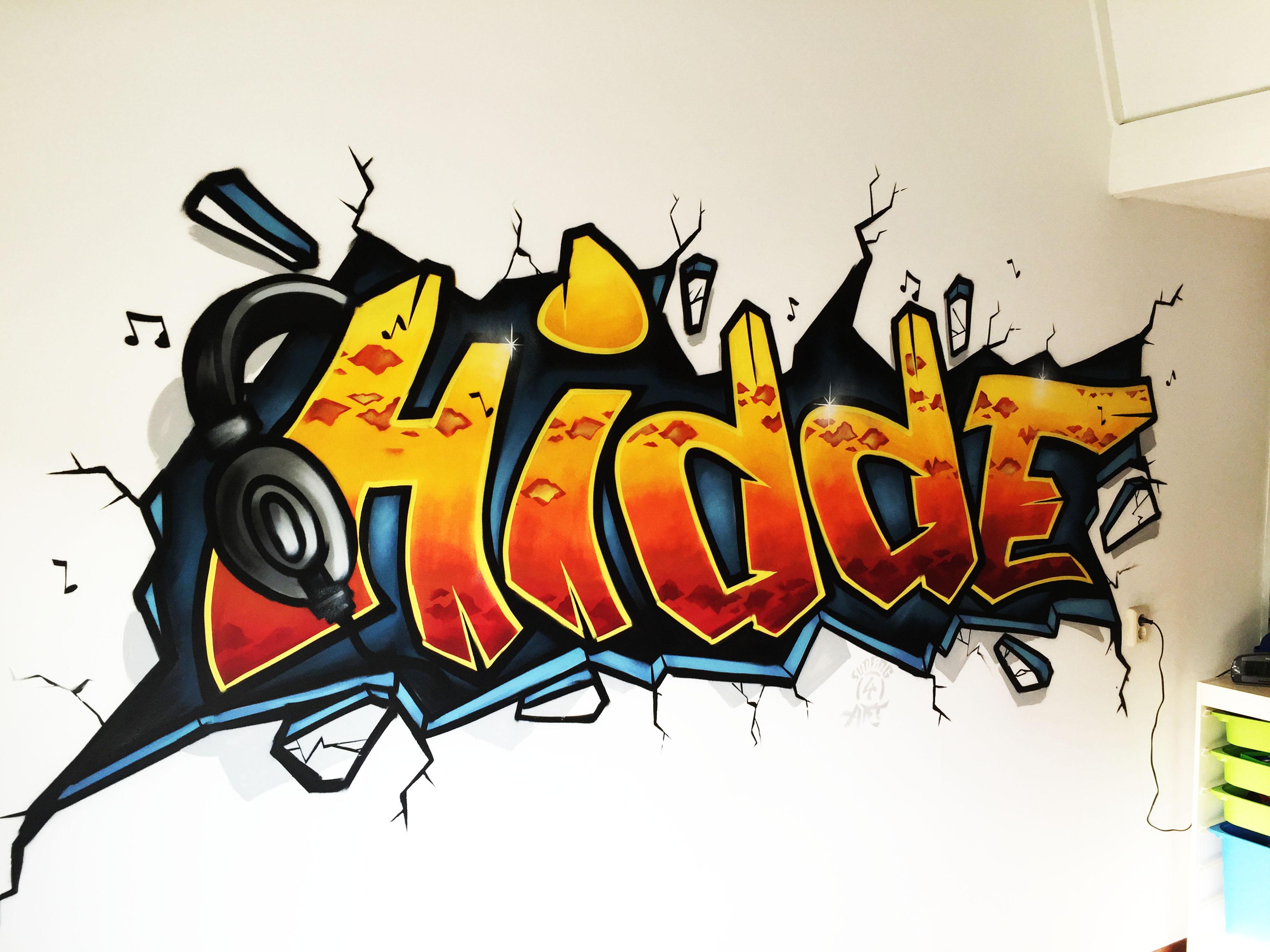 Behang Kinderkamer Regenboog : Graffiti behang of een echte graffiti op jouw muur?kinderkamer graffiti