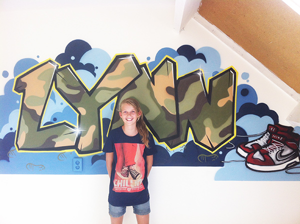 Muursticker Graffiti Met Naam.Graffiti Muursticker Kinderkamer Graffitikinderkamer Graffiti