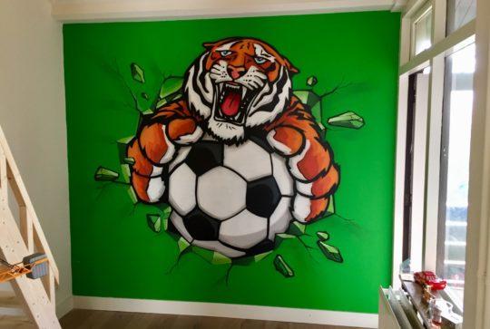 graffiti tijger voetbal
