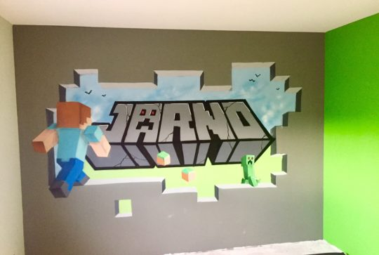 minecraft graffiti