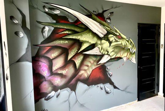 graffiti draak