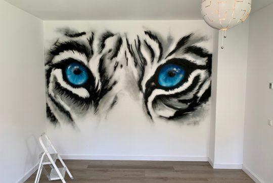 graffiti tijger ogen